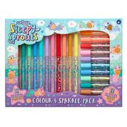 Colour Sparkle Pack : 12 Scented Markers & 12 Glitter Glues