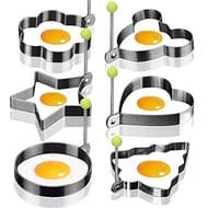 6PCS Fried Egg Cooking Rings Pancake Mould Cookies Maker Baking
