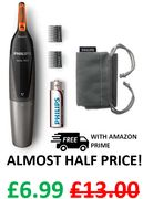 ALMOST HALF PRICE - Philips Nose, Ear & Eyebrow Trimmer - FREE PRIME DELIVERY