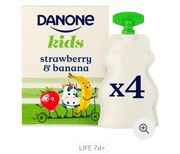 Danone Kids Organic Strawberry & Banana No Added Sugar Yogurt67%off at Heron