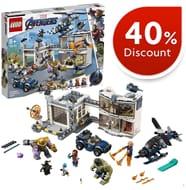 40% OFF. Save £36! LEGO Marvel Avengers - Avengers Compound Battle (76131)