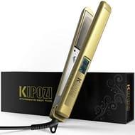KIPOZI Pro Hair Straighteners Flat Iron Golden
