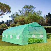 *SAVE £42* Outsunny Walk in Polytunnel Greenhouse, 6Lx3Wx2H M-Green