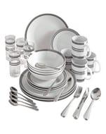 36-Piece Bistro Stripe Combo Dinner Set