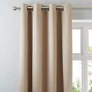 Matt Satin Eyelet Curtains - Antique Gold