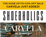 SHOEAHOLICS CLEARANCE SALE + up to 70% off CARVELA!