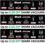 SHARK Vacuum OFFERS - up to £130 off SHARK VACUUM CLEANERS
