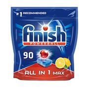 Finish Dishwasher Tablets All in 1 Max Lemon, 90 Tabs (+FREE PRIME DELIVERY)