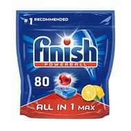 AMAZON BESTSELLER - Finish Dishwasher Tablets All in 1 Max Lemon, 80 Tabs
