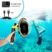 DEAL STACK - FEIMUOSI for GoPro Dome Port, Diving Transparent Dome GoPro