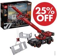 SAVE £60 - LEGO 42082 Technic Rough Terrain Crane at Amazon