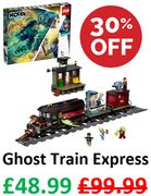 30% OFF, SAVE £21. LEGO Hidden Side: Ghost Train Express (70424)