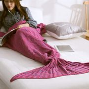 Knitted Mermaid Tail Blanket at Amazon