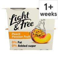 Light & Free Greek Style Free Passion Fruit Yogurt 4X115g