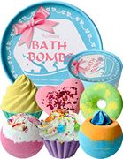Aofmee Bath Bombs Gift Set, Handmade Bubble and Floating Fizzies Spa Kit,