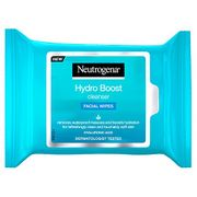 Neutrogena Hydro Boost Cleansing Facial Wipes, 25 Wipes