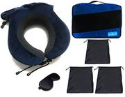 Best Offer- Clothes Storage Bags with Neck Pillow 6 Pcs Value Pack