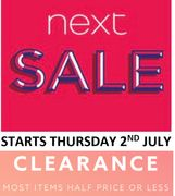 NEXT SALE - Half Price or Less - NEXT CLEARANCE SALE
