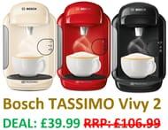 Bosch TASSIMO Vivy 2 Coffee Machine - £39.99 AT AMAZON