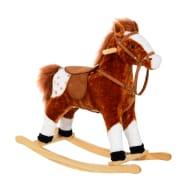 Children Plush Rocking Horse with Sound-Brown