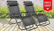 Pair of Zero Gravity Reclining Sun Loungers