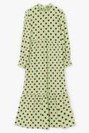 Polka Dot to Worry Satin Maxi Dress