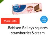 Bahlsen Baileys Squares Strawberries and Cream Biscuits