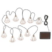 Solar Diamond String Lights - Set of 10 - Click & Collect Only