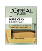 L'Oreal Paris Pure Clay Brightening Lemon Face Mask for Even Tone