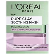 L'Oreal Paris Pure Clay Soothing & Detox Face Mask for Sensitive Skin