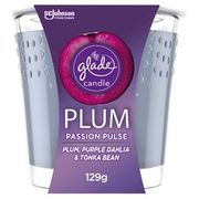 Glade Candle Plum Passion Pulse 129G