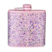 Doin It for the Gram Hip Flask with Silicone Glitter Wrap