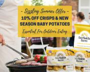 10% off Crisps & New Season Baby Potatoes