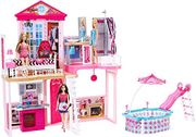 Barbie Complete Home Set - With 3 Dolls and 3 Furniture Sets