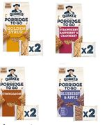 Quaker Porridge to Go Bars - Various