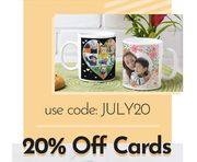 20% off Mugs and Cards
