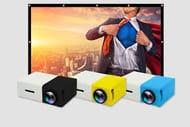 Home Cinema Bundle - YG300 LED Projector & 84inch Portable Screen