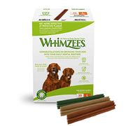 WHIMZEES Natural Dental Dog Chews Long Lasting, Large Stix, 30 Pieces
