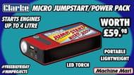 Win a Micro Jump Start Power Pack.