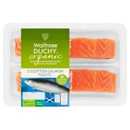 Waitrose Duchy 2 Salmon Fillets265g