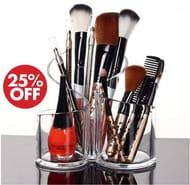 Acrylic Makeup Brush Organiser / Desktop Organiser *4.8 Stars*