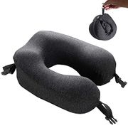 Deal Stack! Memory Foam Neck&Head Support Pillow with Carry Case
