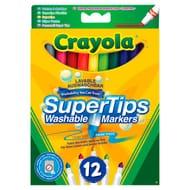 Crayola Super Fibre Tip Washable Marker Pens Pens