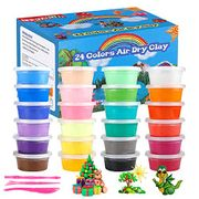 Air Dry Clay, 24 Colors Ultra Light Modeling Cla