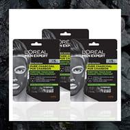 L'Oreal Men Expert Pure Charcoal Face Mask Multipack X 3