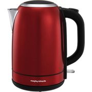 *SAVE £5* Morphy Richards Equip Kettle - Red/Black/Cream