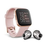 Fitbit Versa 2 Health & Fitness Smartwatch and Earbuds