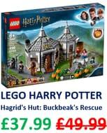 SAVE £12 - LEGO Harry Potter - Hagrids Hut: Buckbeaks Rescue (75947)