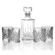 4 Crystal Whiskey Tumblers + Whiskey Decanter - £8.99 Delivered