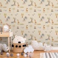 Animals Beige Wallpaper - Only £4.5!